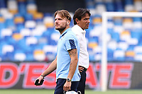 Ciro Immobile of SS Lazio and Simone Inzaghi coach of SS Lazio<br /> prior to the Serie A football match between SSC  Napoli and SS Lazio at stadio San Paolo in Naples ( Italy ), August 01st, 2020. Play resumes behind closed doors following the outbreak of the coronavirus disease. <br /> Photo Cesare Purini / Insidefoto