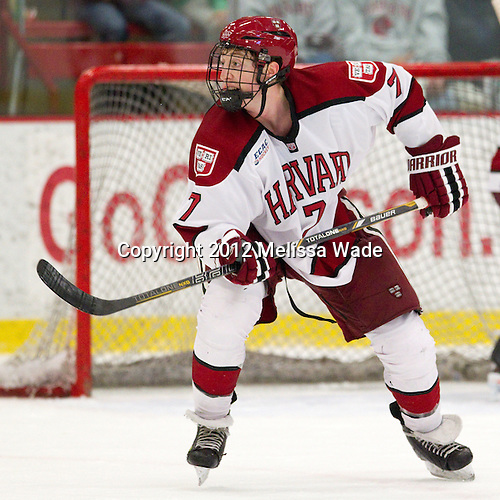 Danny Fick (Harvard - 7) - The Harvard University Crimson defeated the visiting Rensselaer Polytechnic Institute Engineers 4-0 (EN) on Saturday, November 10, 2012, at Bright Hockey Center in Boston, Massachusetts.