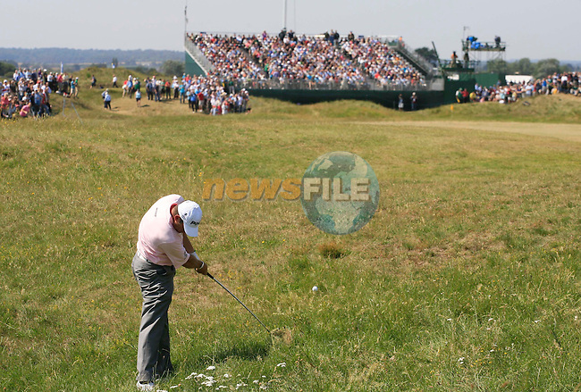 Lee Westwood (ENG) in action during the second round of the 140th Open Championship played at Royal St George's Golf Club on 15th July 2011 in Sandwich, Kent, England (Picture Credit / Phil INGLIS  / www.golffile.ie