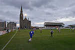 The floodlights illuminate the action at Bellslea Park, during Fraserburgh's Highland League fixture against visitors Strathspey Thistle (in blue). Nicknamed 'The Broch,' Fraserburgh have been members of the Highland League since 1921 having been formed 11 years earlier. The match ended in a 2-2 draw in front of a crowd of 302.