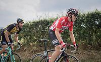 Kris Boeckmans (BEL/Lotto-Soudal) up La Redoute<br /> <br /> Ster ZLM Tour (2.1)<br /> Stage 4: Hotel Verviers &gt; La Gileppe (Jalhay)(190km)