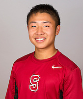 Daniel Ho,  with the Stanford Men's Tennis Team. Photo taken on Monday, September 23, 2013.