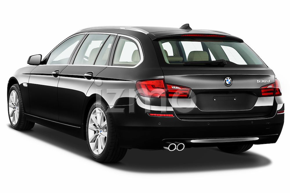 Rear three quarter view of a 2013 BMW 5 Series 530d Wagon