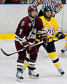 Carl Sneep (BC - 7), Ryan Flanigan (Merrimack - 20) - The Merrimack College Warriors defeated the Boston College Eagles 5-3 on Sunday, November 1, 2009, at Lawler Arena in North Andover, Massachusetts splitting the weekend series.