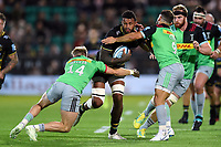 Courtney Lawes of Northampton Saints takes on the Harlequins defence. Gallagher Premiership match, between Northampton Saints and Harlequins on September 7, 2018 at Franklin's Gardens in Northampton, England. Photo by: Patrick Khachfe / JMP