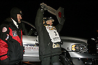 2006 Iditarod champion Jeff King at the finish line in Nome
