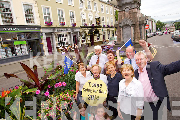 Tralee Tidy towns volunteers helping to get Tralee ready for the judging of the Entente Floralecompetition which will bill be judhed next Thursday.