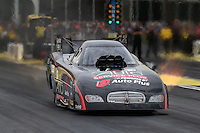 May 10, 2013; Commerce, GA, USA: NHRA funny car driver Blake Alexander during qualifying for the Southern Nationals at Atlanta Dragway. Mandatory Credit: Mark J. Rebilas-