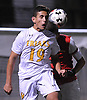 Fernando Robayo #19 of St. Anthony's tries to make a header during the Nassau-Suffolk CHSAA varsity boys soccer championship against Chaminade at Adelphi University on Sunday, Nov. 6, 2016.