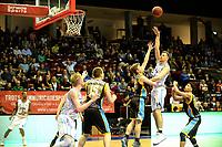 GRONINGEN - Basketbal, Donar - Den Helder Suns, Martiiniplaza,  kwartfinale playoff, seizoen 2018-2019,  30-04-2019,  score Donar speler Thomas Koenes