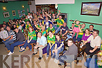 Fans from The New Kingdom Bar, Listowel on for all Ireland Sunday.
