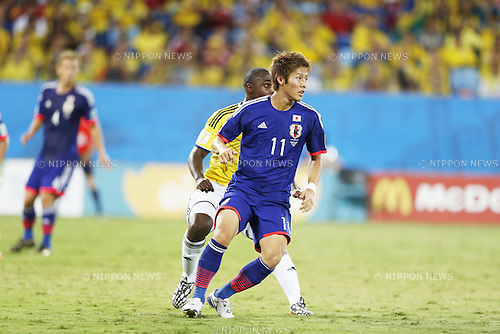 Yoichiro Kakitani (JPN), JUNE 24, 2014 - Football / Soccer : FIFA World Cup Brazil 2014 Group C match between Japan 1-4 Colombia at the Arena Pantanal in Cuiaba, Brazil. (Photo by AFLO)