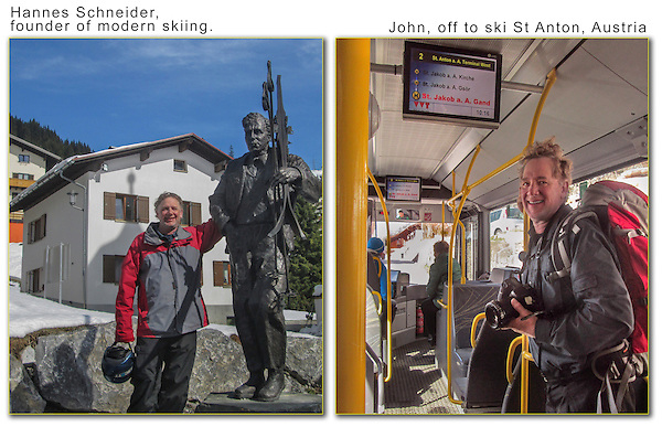I finally make it to Stuben, near St Anton, Austria.