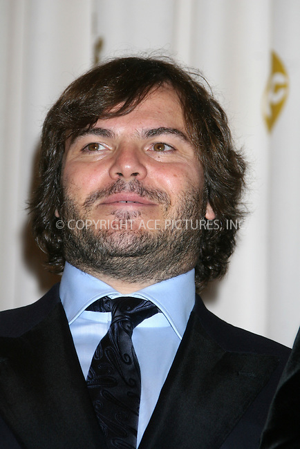 WWW.ACEPIXS.COM . . . . .  ....February 22, 2009. Hollywood, CA....Actor Jack Black poses at the 81st Annual Academy Awards press room held at the Kodak Theater on February 22, 2009 in Hollywood, CA.......Please byline: Z09- ACEPIXS.COM.... *** ***..Ace Pictures, Inc:  ..Philip Vaughan (646) 769 0430..e-mail: info@acepixs.com..web: http://www.acepixs.com