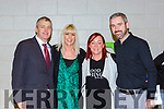 Sinn Fein delegates at the count in Killarney on Monday evening l-r: Pa Daly, Theresa Ferris, Deirdre Ferris and Cathal Foley