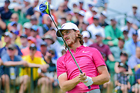 Tommy Fleetwood (ENG) watches his tee shot on 1 during Saturday's round 3 of the 117th U.S. Open, at Erin Hills, Erin, Wisconsin. 6/17/2017.<br /> Picture: Golffile | Ken Murray<br /> <br /> <br /> All photo usage must carry mandatory copyright credit (&copy; Golffile | Ken Murray)