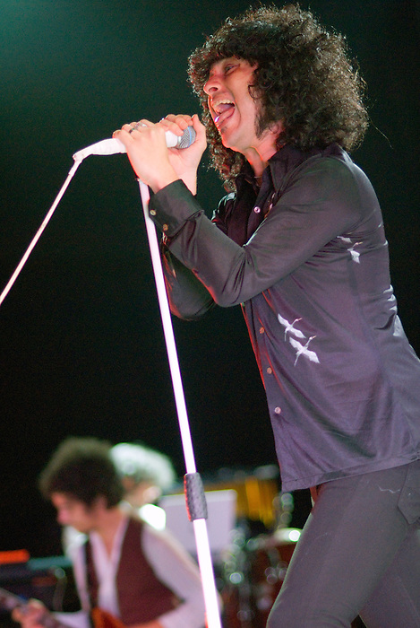 The Mars Volta [Cedric Bixler-Zavala pictured] performing live at Ten Years of All Tomorrow's Parties at Butlins in Minehead. 13 December 2009.