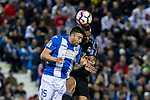Diego Rico of Club Deportivo Leganes and Danilo Luiz da Silva of Real Madrid during the match of  La Liga between Club Deportivo Leganes and Real Madrid at Butarque Stadium  in Leganes, Spain. April 05, 2017. (ALTERPHOTOS / Rodrigo Jimenez)