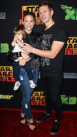 "CENTURY CITY, CA, USA - SEPTEMBER 27: Jaime King, James Knight Newman, Kyle Newman arrive at the Los Angeles Screening Of Disney XD's ""Star Wars Rebels: Spark Of Rebellion"" held at the AMC Century City 15 Theatre on September 27, 2014 in Century City, California, United States. (Photo by Celebrity Monitor)"