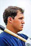 5 March 2011: New York Yankees' infielder Brandon Laird awaits his turn in the batting cage prior to a Spring Training game against the Washington Nationals at George M. Steinbrenner Field in Tampa, Florida. The Nationals defeated the Yankees 10-8 in Grapefruit League action. Mandatory Credit: Ed Wolfstein Photo