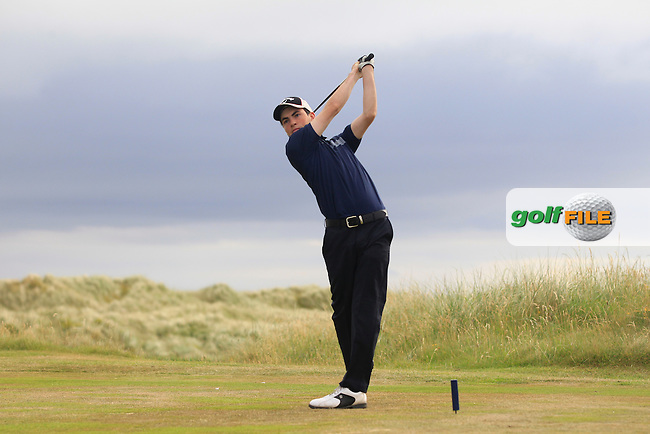 Eamonn O'Driscoll (Killarney) on the 18th tee during Round 3 of the Ulster Boys Championship at Castlerock Golf Club on Wednesday 2nd July 2015.<br /> Picture:  Golffile | Thos Caffrey