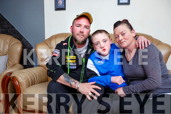 Shane Brosnan Currow with his parents Norita and Simon