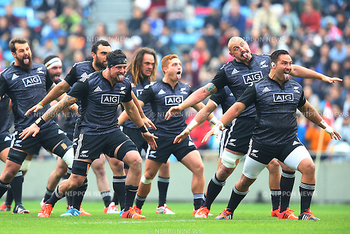 Maori All Blacks team group,<br /> NOVEMBER 8, 2014 - Rugby : <br /> International rugby friendly match <br /> between Japan XV - Maori All Blacks <br /> at Chichibunomiya Rugby Stadium, Tokyo, Japan. <br /> (Photo by Shingo Ito/AFLO SPORT) [1195]