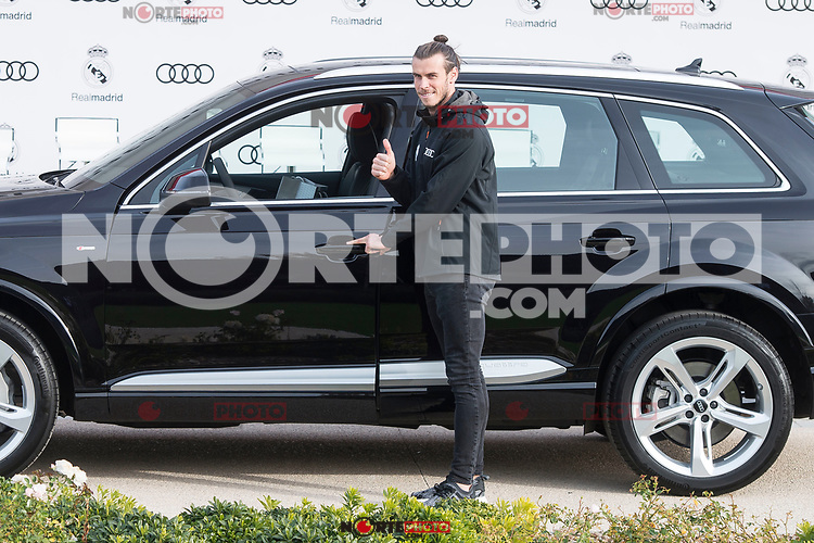 Gareth Bale of Real Madrid CF poses for a photograph after being presented with a new Audi car as part of an ongoing sponsorship deal with Real Madrid at their Ciudad Deportivo training grounds in Madrid, Spain. November 23, 2017. (ALTERPHOTOS/Borja B.Hojas) /NortePhoto.com NORTEPHOTOMEXICO