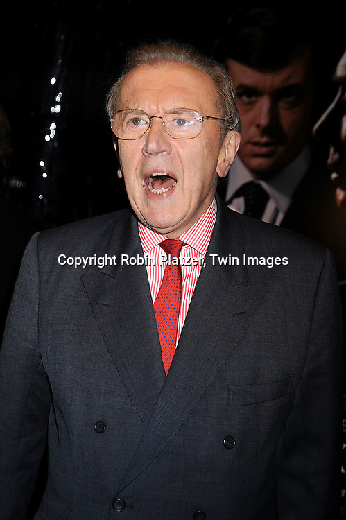 """Sir David Frost..posing for photographers at The New York Premiere of..""""FROST/NIXON"""" on November 17, 2008 at The Ziegfeld Theatre. ....Robin Platzer, Twin Images"""