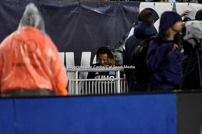May 31, 2015 - Foxborough, Massachusetts, U.S. - New England Revolution midfielder Jermaine Jones (13) heads to the locker room after getting injured during the MLS game between Los Angeles Galaxy and the New England Revolution held at Gillette Stadium in Foxborough Massachusetts. Revolution tied Galaxy 2-2.  Eric Canha/CSM