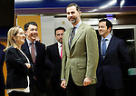 Prince Felipe of Spain with the Minister of Public Works Ana Pastor (l) and the President of Madrid Region Ignacio Gonzalez (2l) during the visit to the works of extension of subway line 9 Madrid.March 6,2013. (ALTERPHOTOS/Acero)