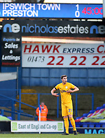 Preston North End's Paul Huntington urges his team on after they go 1-0 behind<br /> <br /> Photographer David Shipman/CameraSport<br /> <br /> The EFL Sky Bet Championship - Ipswich Town v Preston North End - Saturday 3rd November 2018 - Portman Road - Ipswich<br /> <br /> World Copyright &copy; 2018 CameraSport. All rights reserved. 43 Linden Ave. Countesthorpe. Leicester. England. LE8 5PG - Tel: +44 (0) 116 277 4147 - admin@camerasport.com - www.camerasport.com