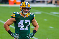 Green Bay Packers linebacker Jake Ryan (47) during a preseason football game against the Philadelphia Eagles on August 10, 2017 at Lambeau Field in Green Bay, Wisconsin. Green Bay defeated Philadelphia 24-9.  (Brad Krause/Krause Sports Photography)