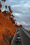 The California Incline meeting the Pacific Coast HIghway in Santa Monica, California