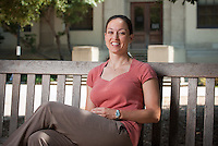 Professor Marcella Raney, Dept. of Kinesiology, August 18, 2009. For Occidental College faculty portraits. (Photo by Marc Campos, Occidental College Photographer)