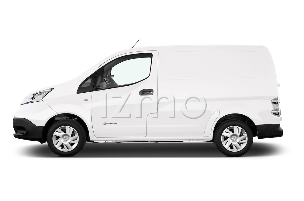 Car Driver side profile view of a 2015 Nissan NV200 Optima 4 Door Cargo Van 2WD Side View