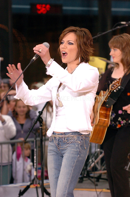 Top country singer Martina McBride performed on the NBC Today Show summer concert series in Rockafeller Plaza, New York City. May 14 2004. Please byline: AJ SOKALNER/ACE Pictures.   ..*PAY-PER-USE*      ....IMPORTANT: Please note that our old trade name, NEW YORK PHOTO PRESS (NYPP), is replaced by new name, ACE PICTURES. New York Photo Press and ACE Pictures are owned by All Celebrity Entertainment, Inc.......All Celebrity Entertainment, Inc:  ..contact: Alecsey Boldeskul (646) 267-6913 ..Philip Vaughan (646) 769-0430..e-mail: info@nyphotopress.com