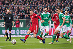 01.12.2018, Weser Stadion, Bremen, GER, 1.FBL, Werder Bremen vs FC Bayern Muenchen, <br /> <br /> DFL REGULATIONS PROHIBIT ANY USE OF PHOTOGRAPHS AS IMAGE SEQUENCES AND/OR QUASI-VIDEO.<br /> <br />  im Bild<br /> <br /> Nuri Sahin (Werder Bremen #17)<br /> Robert Lewandowski (FC Bayern Muenchen #09)<br /> <br /> Foto &copy; nordphoto / Kokenge