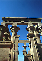 ASWAN- EGIPTO- 15-04-2007. Pabellón de Trajano del templo Philae, ubicado en Agilkia, en el río Nilo. Hall of Trajan Philae Temple, is located in Agilkia on the River Nile. (Photo: VizzorImage)......