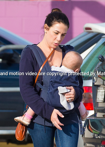 13 JUNE  2015 SYDNEY AUSTRALIA<br /> <br /> EXCLUSIVE PICTURES<br /> <br /> Kate Ritchie pictured with her father and baby daughter Mae heading into a shopping centre.