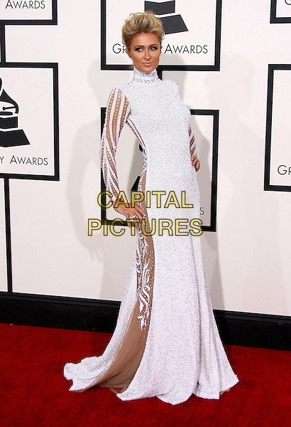 LOS ANGELES, CA - JANUARY 26 - Paris Hilton. 56th GRAMMY Awards held at the Staples Center. <br /> CAP/ADM<br /> &copy;AdMedia/Capital Pictures