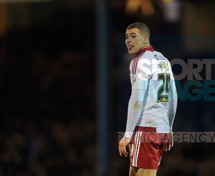 Sheffield United's Che Adams in action during the League One match at Roots Hall Stadium.  Photo credit should read: David Klein/Sportimage