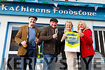 Nelius Collins, Paul Mullins, Kathleen and Jane Collins celebrating another winning scratch card to the value of €50,000, sold in Kathleen's Foodstore in Abbeyfeale.