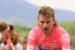 Mitchell Docker (AUS) EF Education First arrives at sign on before the start of Stage 4 of La Vuelta 2019 running 175.5km from Cullera to El Puig, Spain. 27th August 2019.<br /> Picture: Eoin Clarke | Cyclefile<br /> <br /> All photos usage must carry mandatory copyright credit (© Cyclefile | Eoin Clarke)