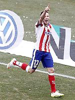 Atletico de Madrid's Saul Niguez celebrates goal during La Liga match.February 7,2015. (ALTERPHOTOS/Acero) /NORTEphoto.com