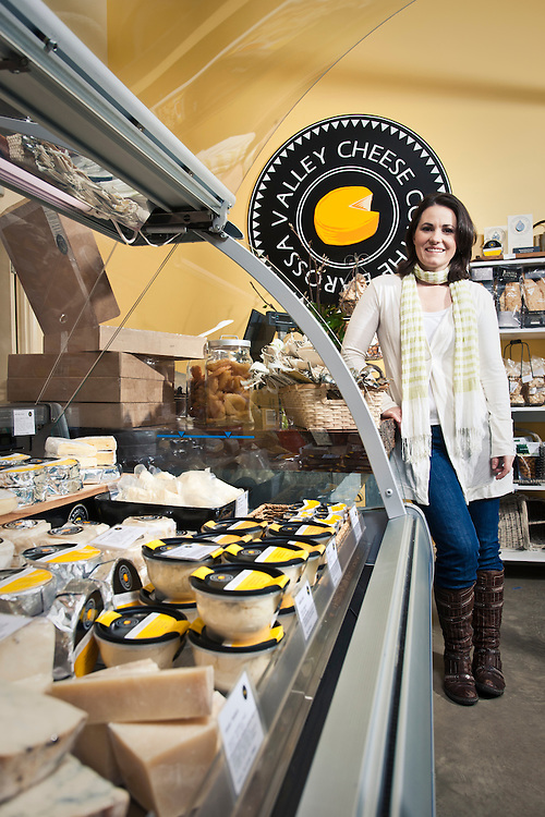 Victoria McClurg of the Barossa Cheese Co FInalist in the 2010 Premiers food awards, Producer of fine soft Cheese.