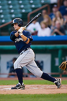 Brandon Douglas (31) of the Oneonta Tigers follows through on his swing at Joe Bruno Stadium in Troy, NY, Monday July 28, 2008  (Photo by Brian Westerholt / Four Seam Images)