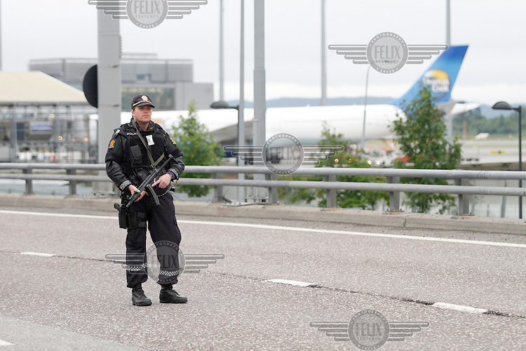 (July 22,2010) Huge bomb explosion in government buildings central Oslo, Norway. (photo:Fredrik Naumann/Felix Features)