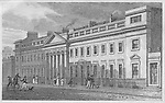 Royal York Baths, Regent's Park, engraving from 'Metropolitan Improvements, or London in the Nineteenth Century', England, UK 1828 , drawn by Thomas H Shepherd