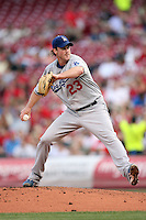 June 18, 2008:  Los Angeles Dodgers starting pitcher Derek Lowe (23) at The Great American Ballpark in Cincinnati, OH.  Photo by:  Chris Proctor/Four Seam Images